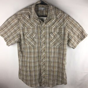 Other - Pearl Button Wrangler Flannel Shirt Men's L